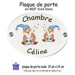 15texticadeauxi-plaque de porte-chouette bonnet-celine