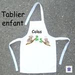 Tablier de Cuisine Enfant Dessin Koala Personnalisable avec un prénom