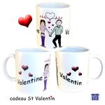 Mug Saint Valentin Femme Personnalisable avec 2 Prénoms