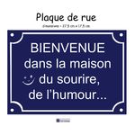 04-Personnaliser Plaque de rue sourire