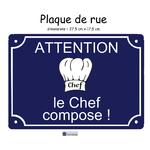 03-Personnaliser Plaque de rue cuisine