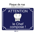 Personnaliser Plaque de rue cuisine