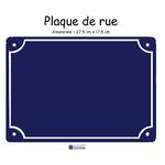 carré plaque de rue vierge bleu
