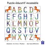 Puzzle Alphabet Réversible Cheval