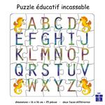 Puzzle Alphabet Réversible Hippocampe