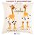 Coussin Girafe Personnalisable avec un Prénom