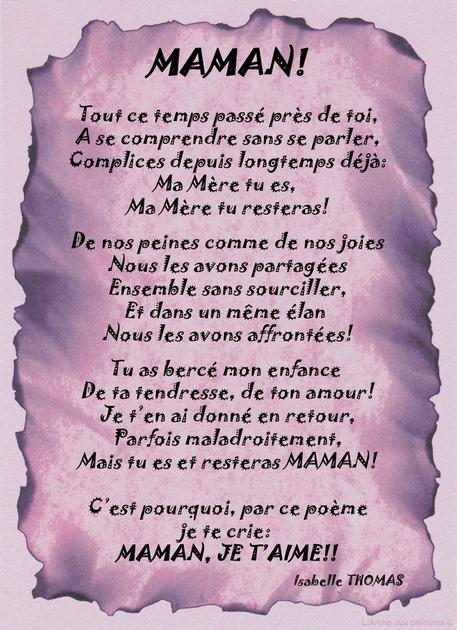 Un Poème Sur Une Mère