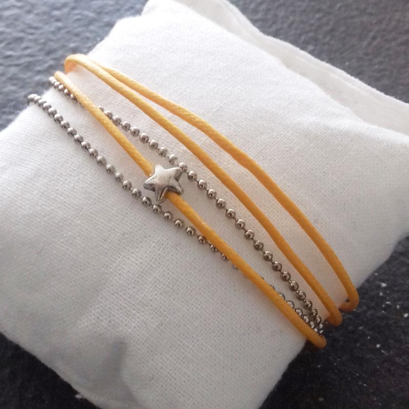 Bracelet orange 3 fils