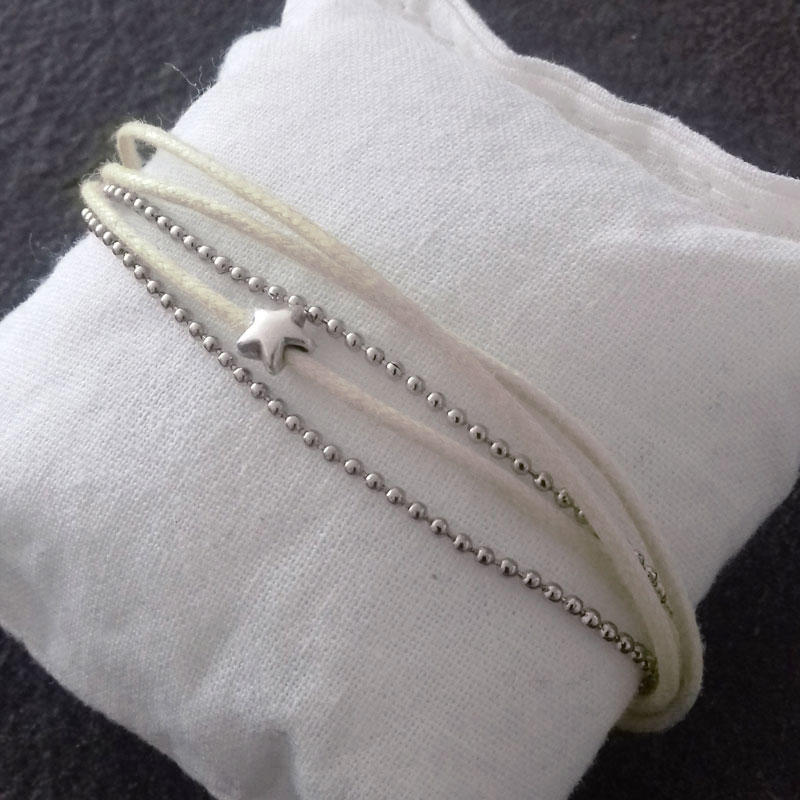 Bracelet blanc 3 fils