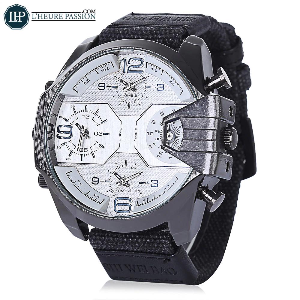 Grosse montre blanche pour homme