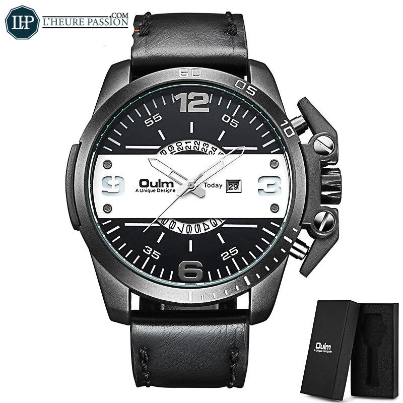 Grosse montre homme noir