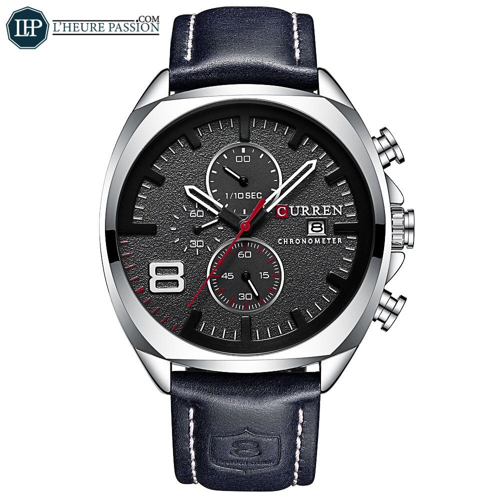 La montre Quartz de luxe pour homme élégant