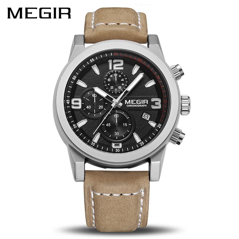 MEGIR-mode-Sport-montre-hommes-de-luxe-marque-hommes-Quartz-montres-Chronogragph-horloge-en-cuir-bande