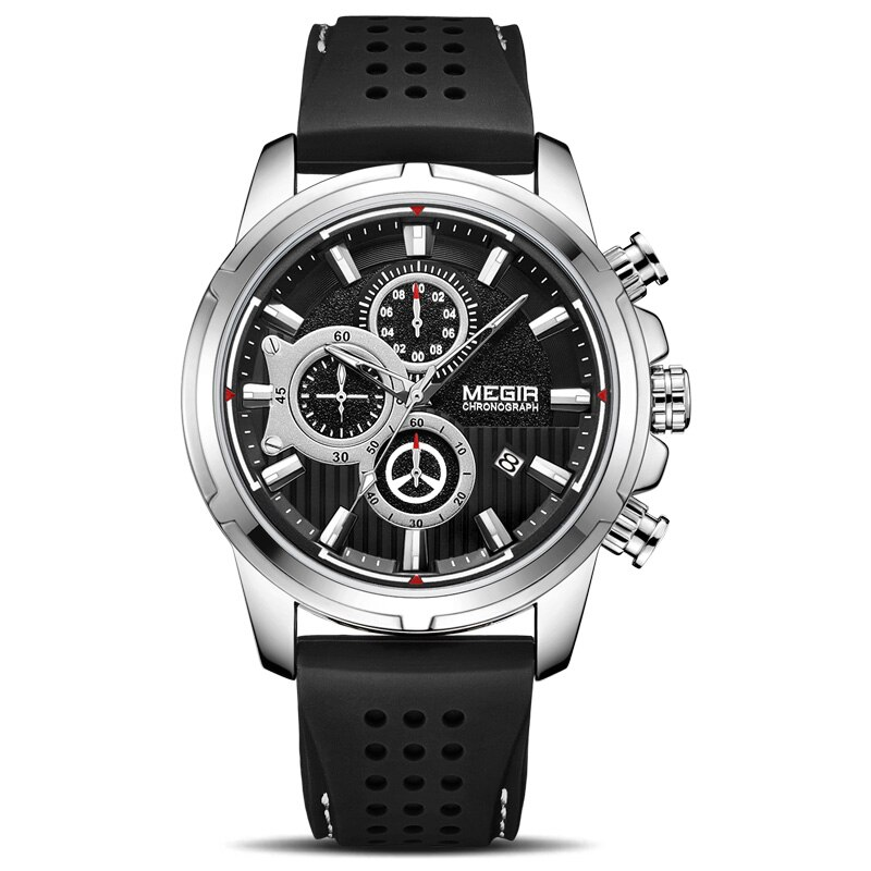Sport chronographe Silicone homme