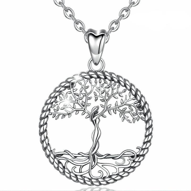 Collier pendentif arbre de vie en argent