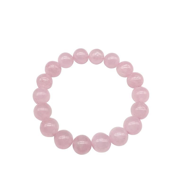 Gros-Rose-Rose-poudre-cristal-Quartz-pierre-naturelle-Streche-Bracelet-cordon-lastique-Pulserase-bijoux-perles-amoureux