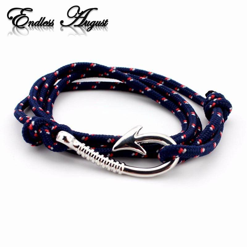 Bracelet corde ancre marine