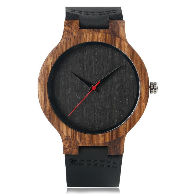 Montre moderne en bois analogique, parfait tous les types d'occasions