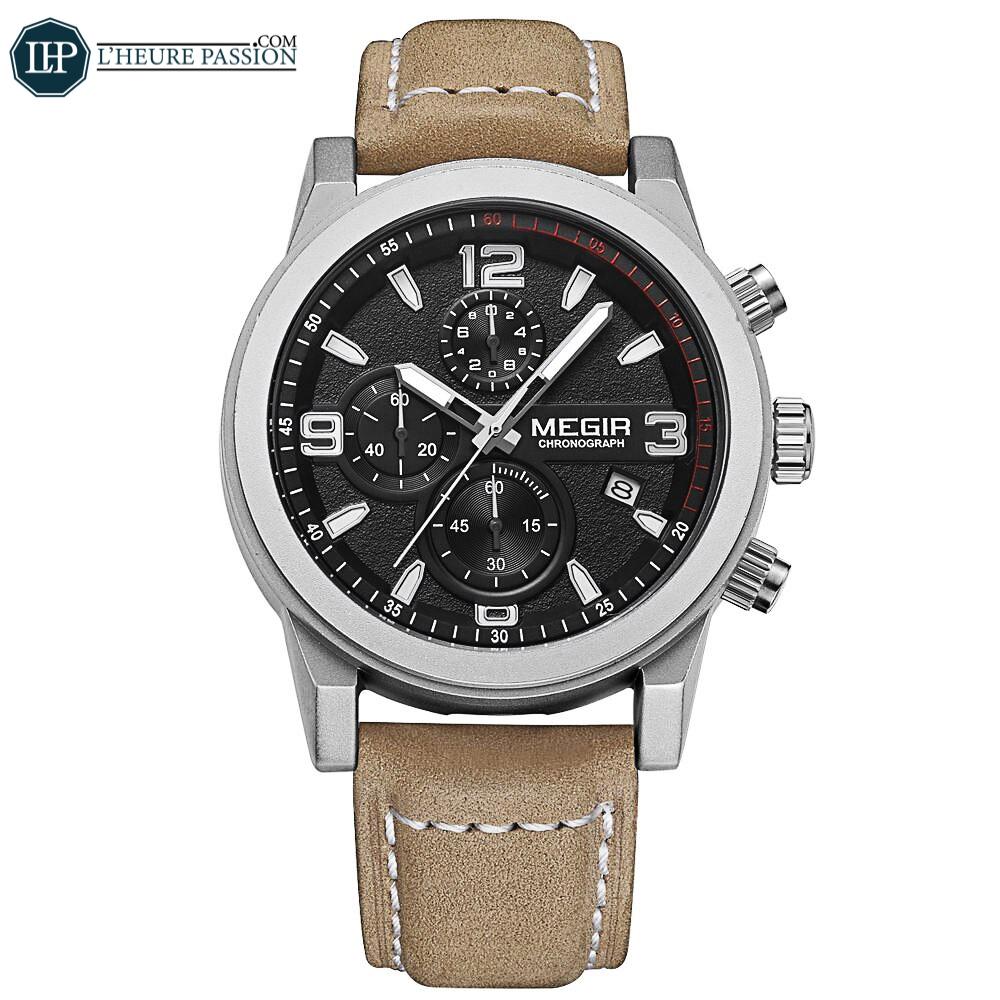 Montre Chronographe bracelet en cuir