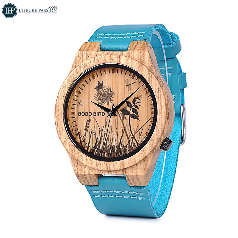 L'originalité de cette montre en bois pour femme