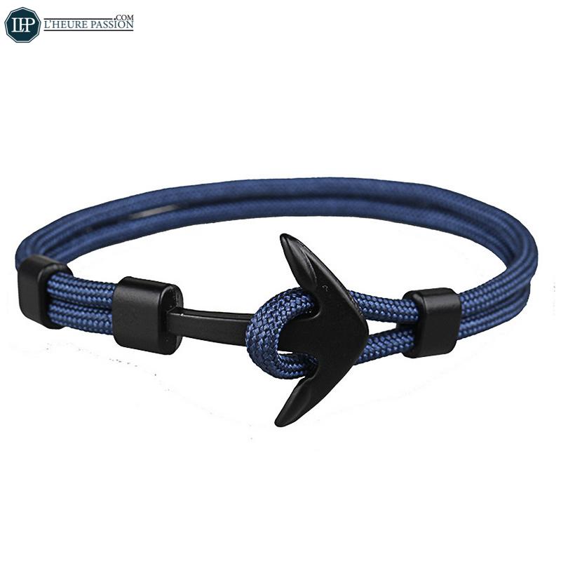 Bracelet ancre marine homme