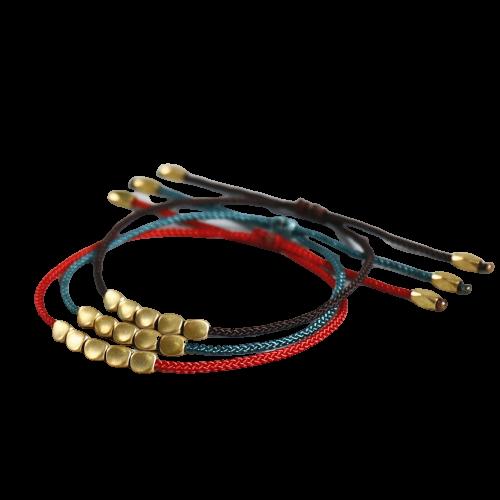 Bracelet fait à la main tibétain perles de cuivre