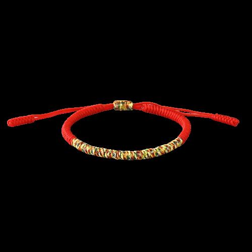 Bracelet 5 couleurs tibétain fait à la main