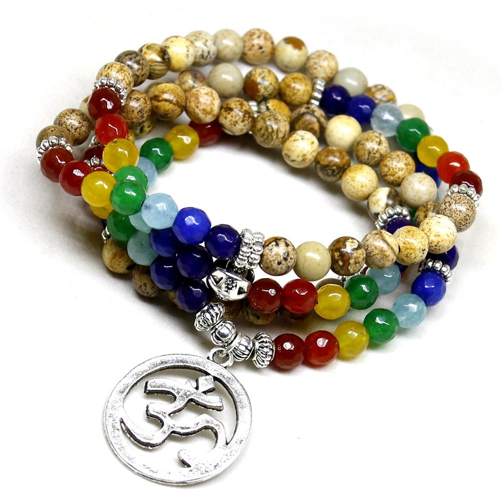 108 Chakra équilibrant les perles de Mala
