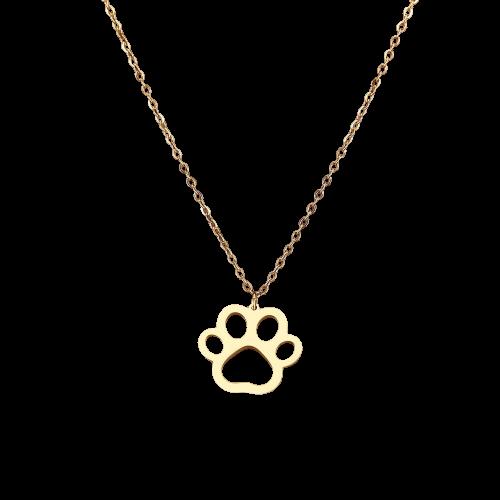 Collier avec pendentif en forme de patte de chat