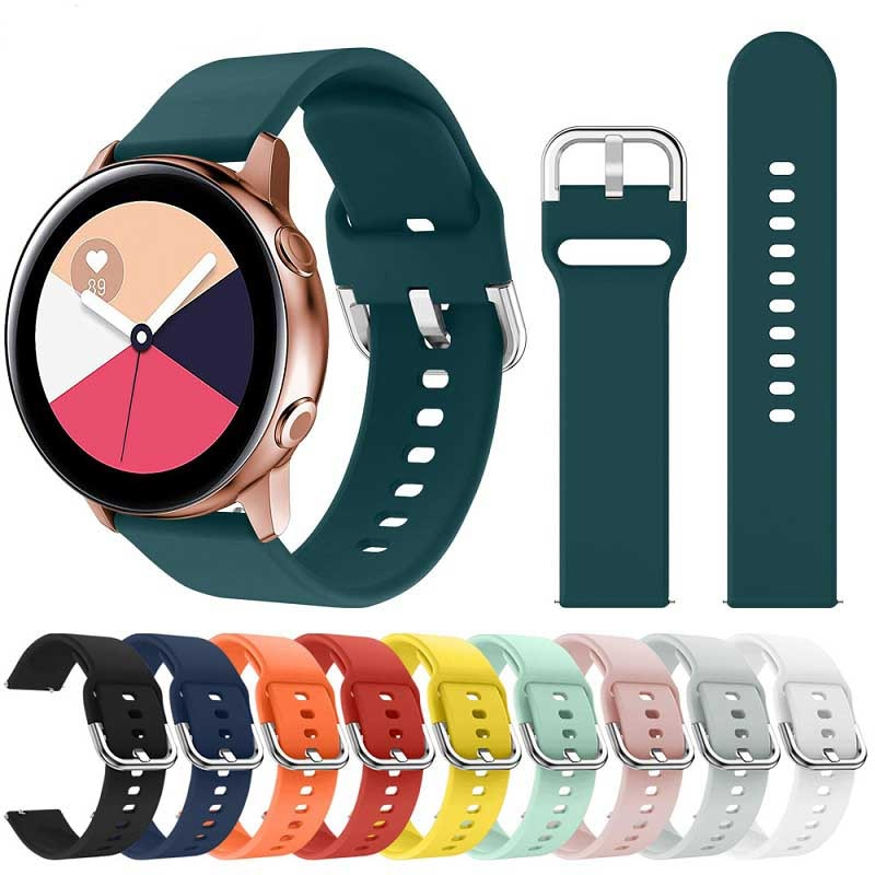 Bracelet en Silicone souple 20mm22mm pour Samsung Galaxy montre Active 42mm Gear S2