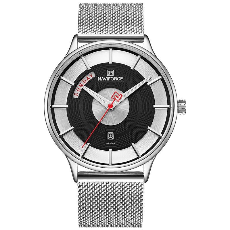 Montre-bracelet étanche minimaliste pour homme Semaine de la date analogique