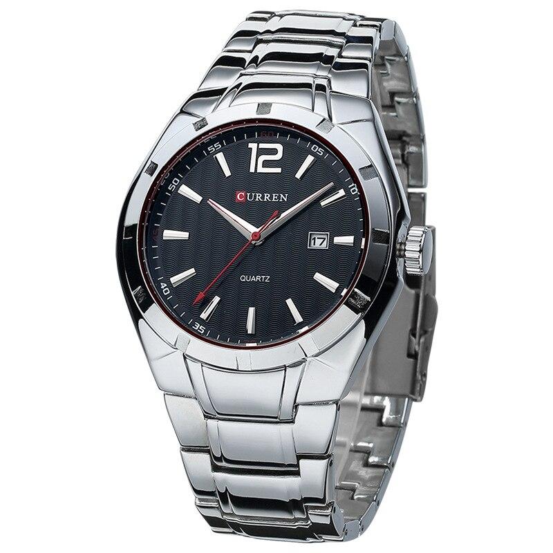 CURREN-8103-Marque-de-luxe-En-Acier-Inoxydable-Bracelet-Affichage-Analogique-Date-Pour-Homme-Montre-Quartz