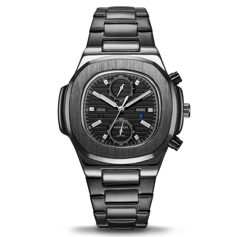 Montre de Sport en acier inoxydable chronographe étanche