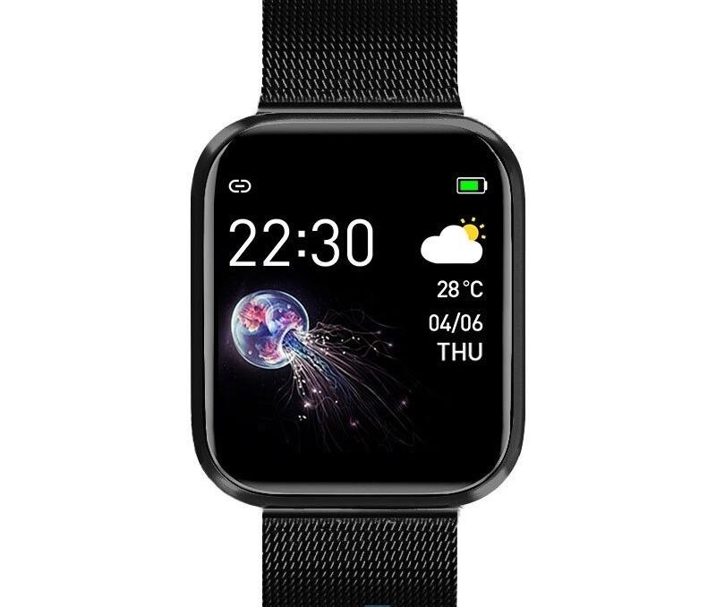 Smartwatch à écran tactile complet pour Android IOS