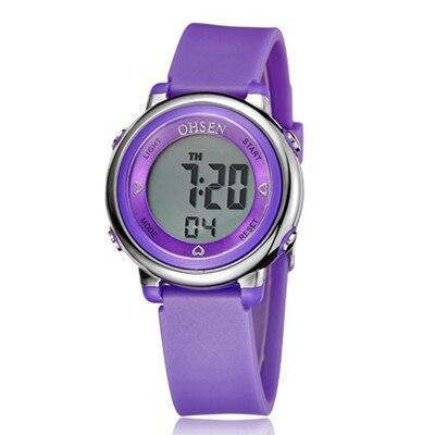 Montres LED de sport pour enfants avec chronomètre et alarme