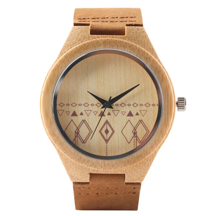 La montre originale en bois décontracté pour femme.