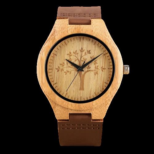 Montre en bois à Quartz ultra léger modèle arbre vie en érable