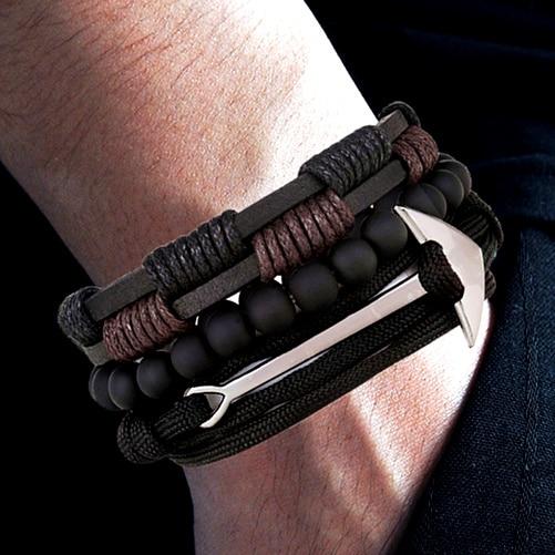 Ensemble Multicouche Perle Bracelet Vintage