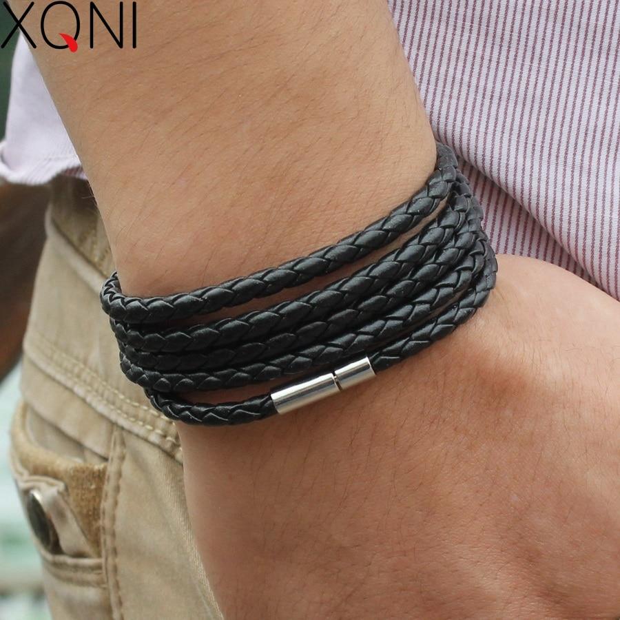 Wrap Longue en cuir bracelet homme