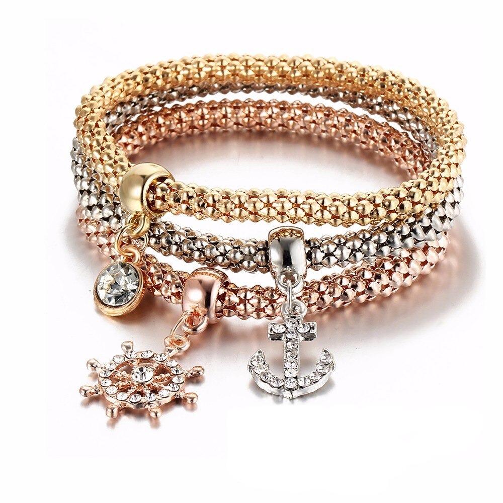 Bracelets multicouches pour femme