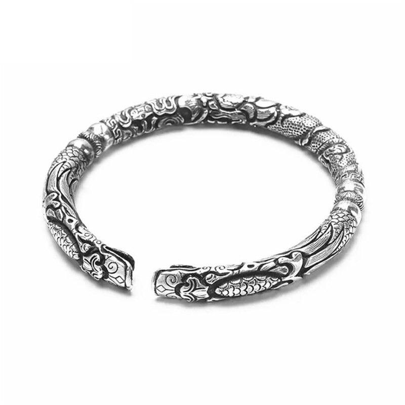Bracelets réglables en argent tibétain