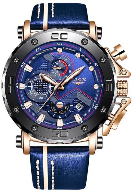 Montre homme avec grand cadran - Montre chronographe de sport