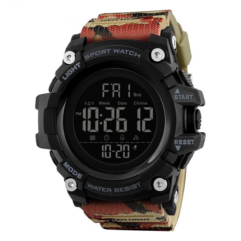 Montre avec compte à rebours, chronomètre - Montre bracelet led homme