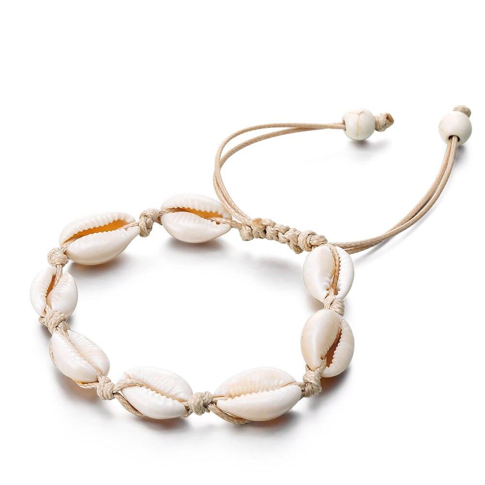 Bracelet en coquillages pour femmes - Bracelet coquillages pour la cheville