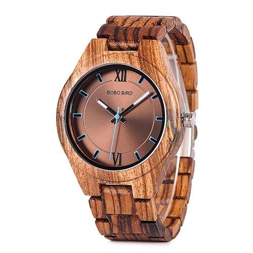 être en contact direct avec la nature quoi de mieux que de porter cette montre en bois au poignet