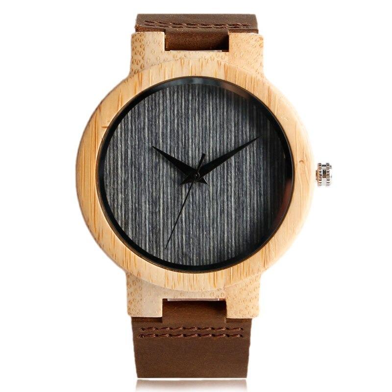 Montre en bois sport et fait main de façon minimaliste
