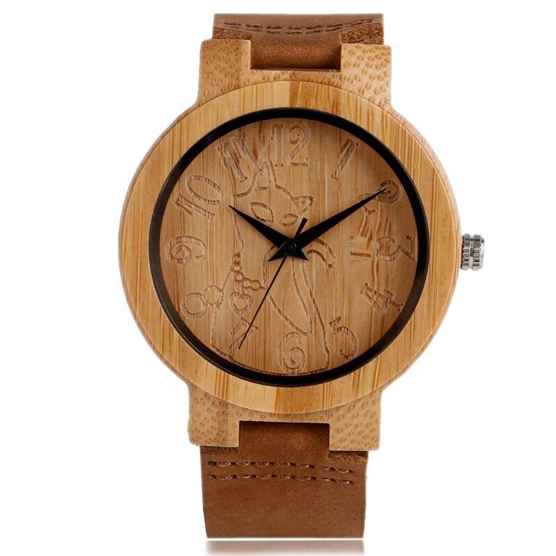 Montre bracelet moderne et nature en bois