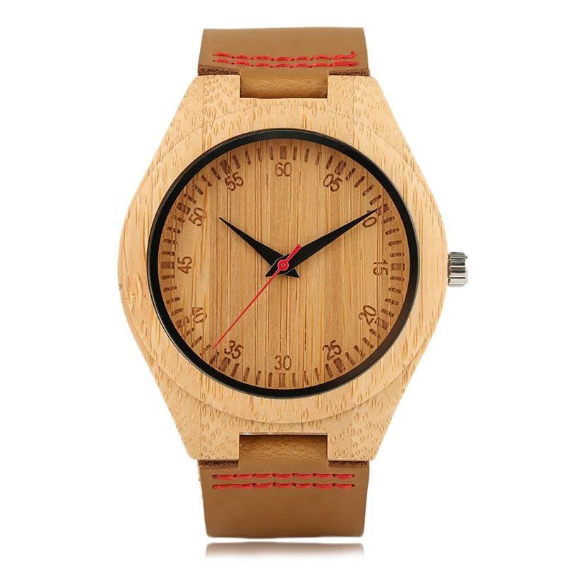 Montre naturellement minimalisme en bois pour homme ou femme