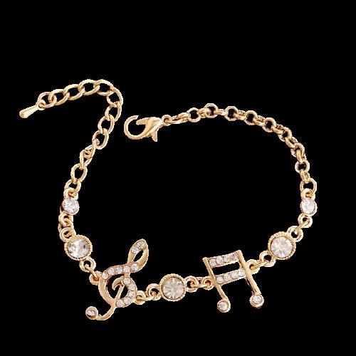 Bracelet cristal brillant note de musique