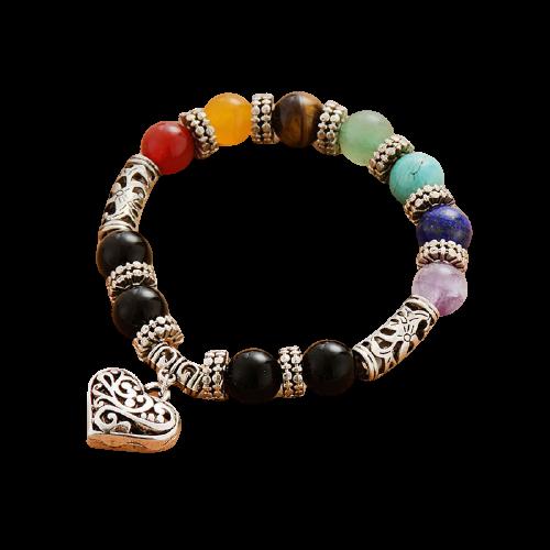 Bracelet Mala classique 7 chakras en pierres naturelles
